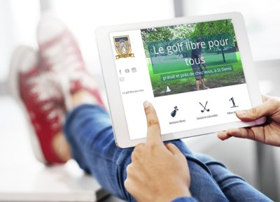 Saint-Denis Golf Club vue tablette